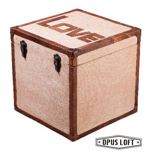 仿舊LOFT復古工業風 LOVE 方形 置物箱