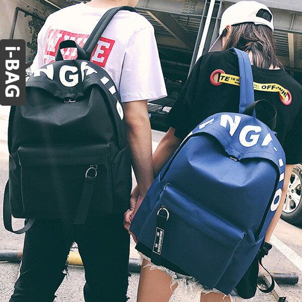 B.A.G*現+預*【BT-XC】夜光字母街頭拚色後背包(現+預)-5色