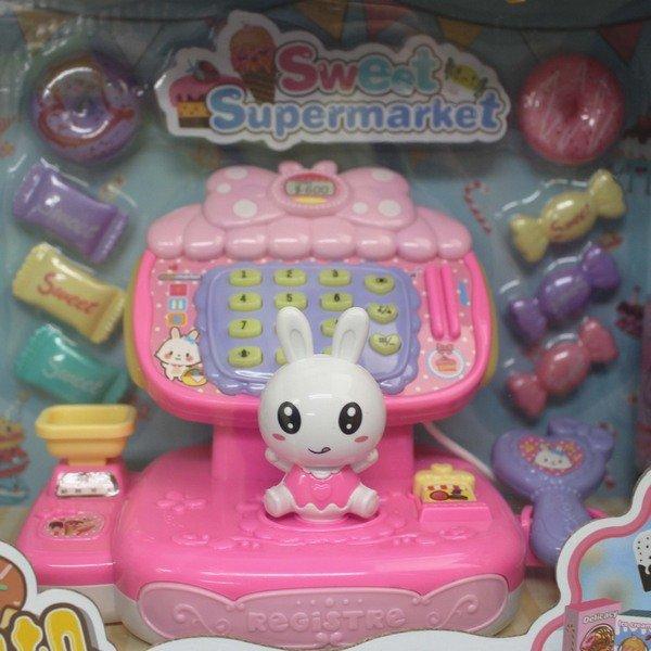 嘉爾樂 萌兔收銀機 1141A 收銀機玩具(附電池)/一個入(促450) 收銀機模擬糖果冰淇淋小兔子模擬超市兒童過家家玩具 超市收銀機-生(K3667)