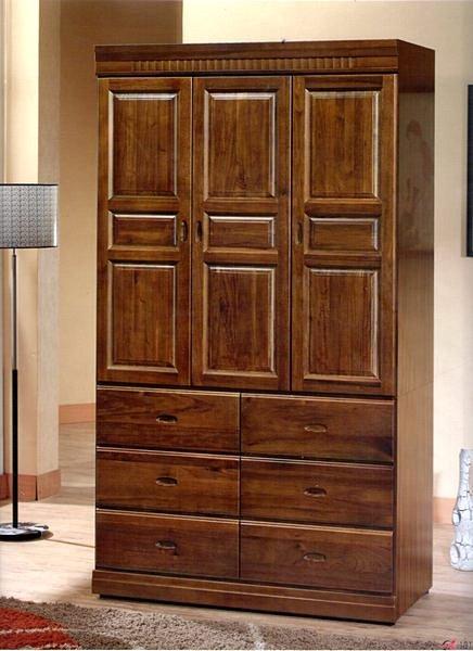【尚品傢俱】895-02 樟木實木4x7尺衣櫃~另有4x6、3x7、3x6尺衣櫃/衣櫥/收納櫃/Wardrobe