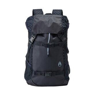 美國百分百【全新真品】NIXON 後背包 水桶包 肩背包 外出包書包 滑板 街頭潮流 時尚 登山運動 深藍點點 I062
