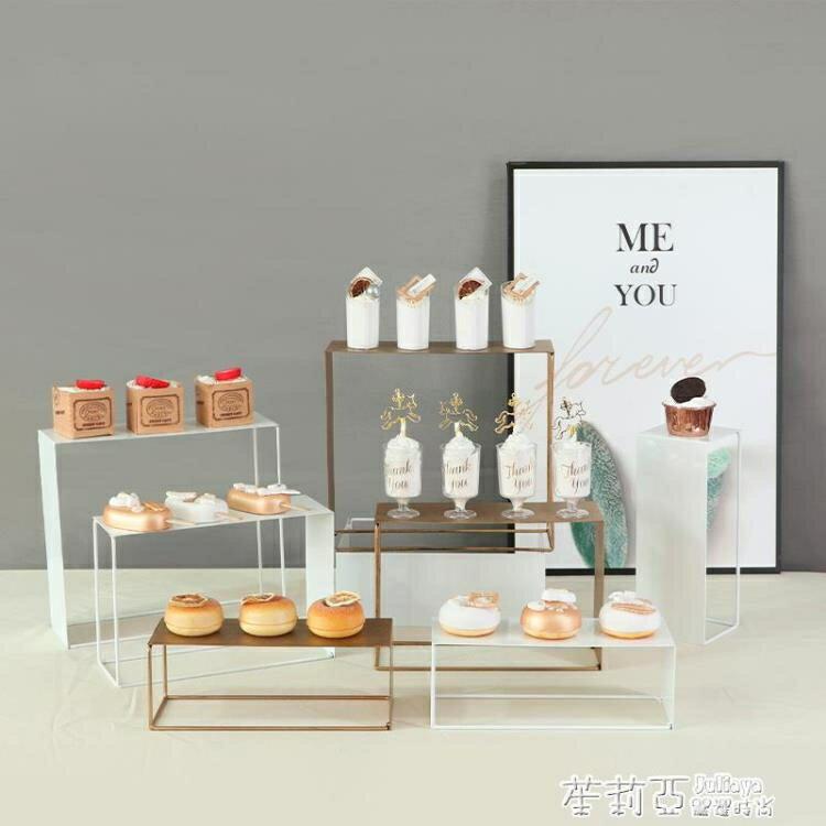 歐式白色甜品臺擺件婚禮甜點展示架紙杯蛋糕擺臺布置裝飾階梯架子 618特惠下殺!!