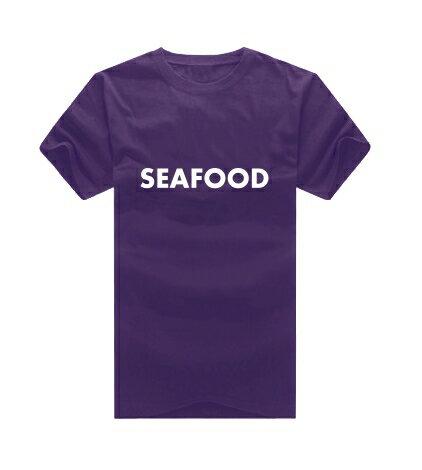 KUSO 感恩seafood 讚嘆seafood T恤客製化 MIT台灣製純棉短T 班服◆快速出貨◆獨家配對情侶裝.seafood【Y0740】可單買.艾咪E舖 1