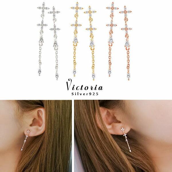 Victoria:S925純銀高貴典雅設浪漫風格華麗款耳環-維多利亞160854