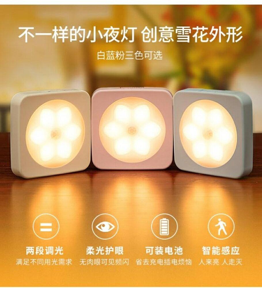 歐普小夜燈LED光控人體感應燈床頭燈臥室聲控智慧自動起夜過道【限時特惠】