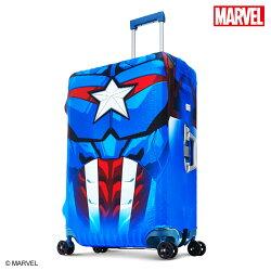 【加賀皮件】DESENO Marvel 漫威英雄造型 3D 防刮彈性 旅行箱保護套 行李箱套 美國隊長 L號(28-29吋) 0003