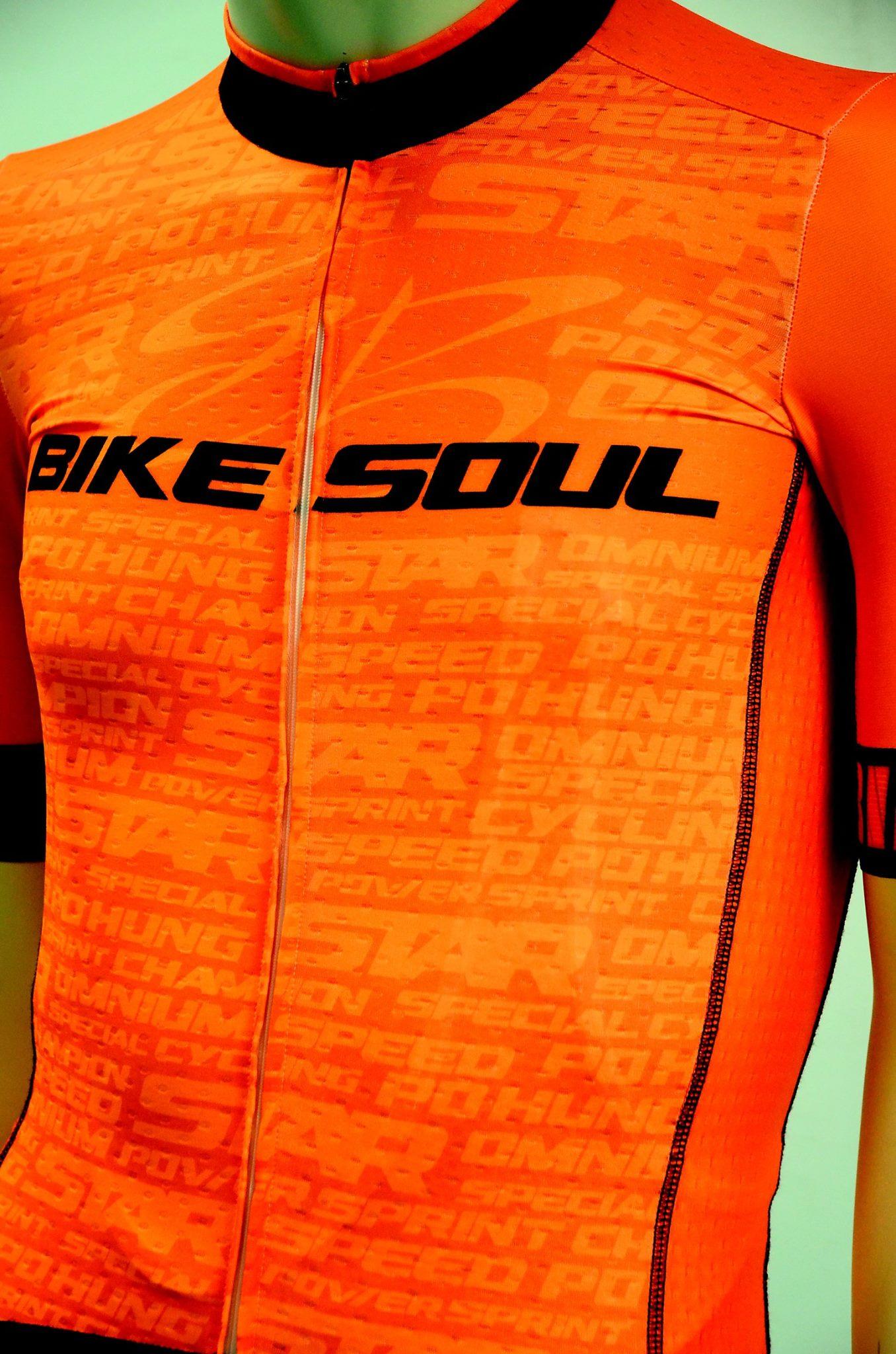 【7號公園自行車】BIKE SOUL車衣/車褲(機能排汗) 螢光系列(橘)