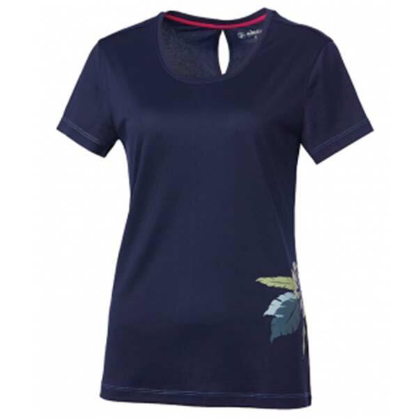 《台南悠活運動家》WILDLAND61625女咖啡紗抗菌抗UV長版上衣藍紫
