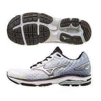 [尋寶趣]MIZUNO WAVE RIDER 19 男鞋 慢跑 避震 輕量 白銀 J1GC160319