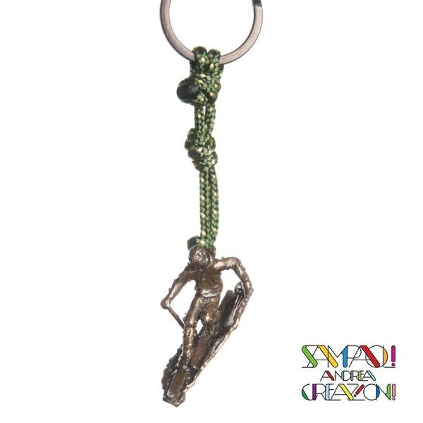【SAC義大利】青銅掛飾吊飾-滑雪者義大利傳統飾品工藝SAC25