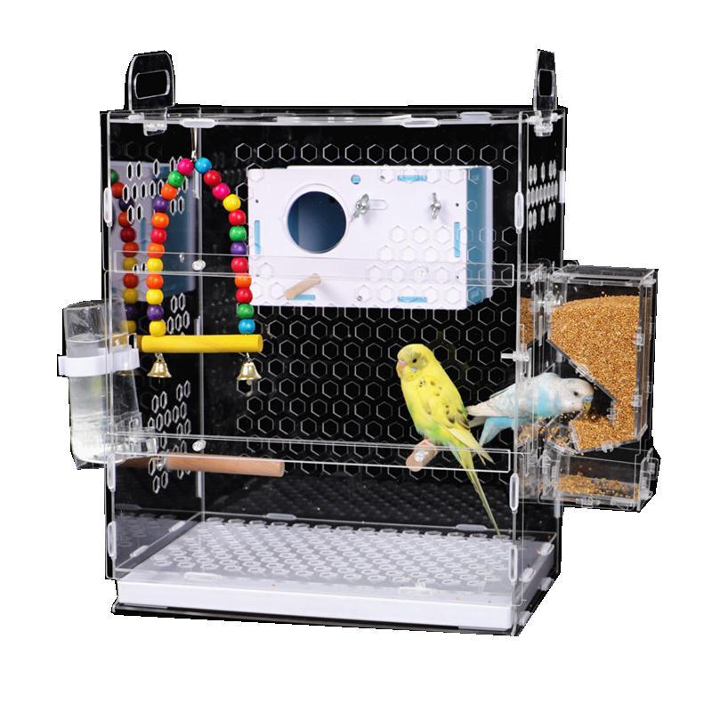 鳥籠 加卡鸚鵡籠虎皮牡丹云相思鳥小型鸚鵡籠子子養殖籠大號的【MJ6196】