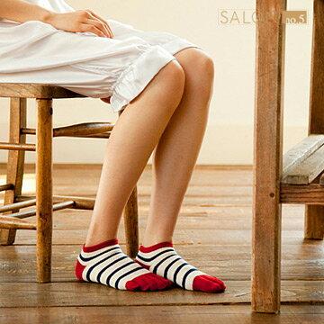 【靴下屋Tabio】女款休閒百搭條紋五趾短筒襪  /  日本職人手做 0