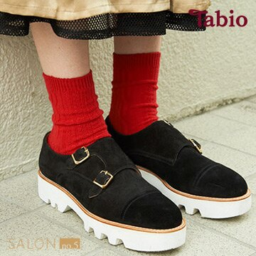 靴下屋Tabio 羅紋編織圖案休閒中筒襪