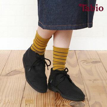 靴下屋Tabio 條紋捲邊中筒襪