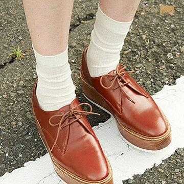 靴下屋Tabio 休閒羅紋純色中筒襪