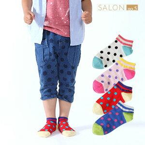 靴下屋Tabio 復古圓點雙線運動童襪 16-18cm