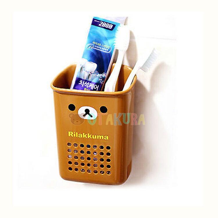 韓國製 拉拉熊 懶懶熊 浴室收納 吸盤式 收納盒 浴室用品 韓國進口正版 067108