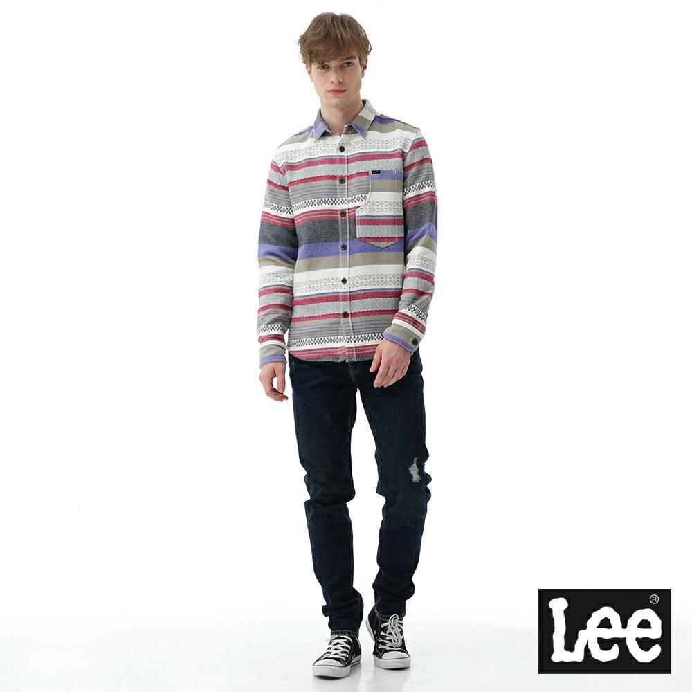 Lee 牛仔褲 731中腰舒適小直筒牛仔褲- 男款-深藍 6
