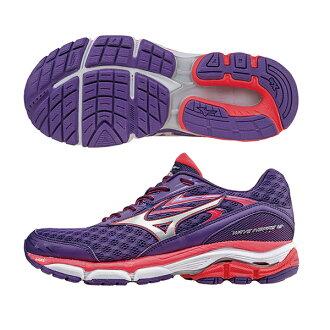 暢銷支撐型鞋款 WAVE INSPIRE 12(W) WIDE 女寬楦慢跑鞋 J1GD164603(紫X銀)S【美津濃MIZUNO】