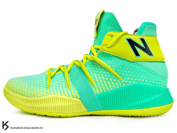 2019 最新 NBA 總冠軍 Kawhi Leonard 強力代言 NEW BALANCE OMN1S 綠黃 全腳掌的 FUELCELL 緩震科技 MVP 籃球鞋 紐巴倫 小可愛 (BBOMNXSN) 1219NBA 0