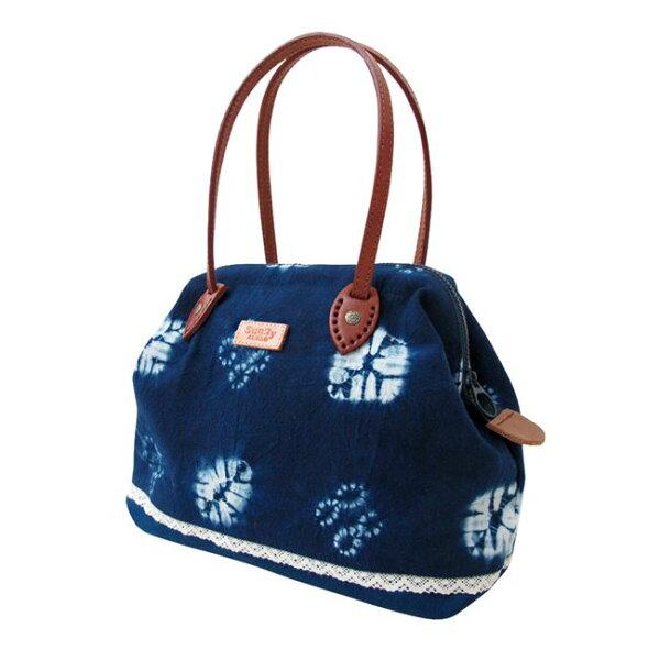 好客HAOKE:《好客-SunnyBUBAO杉林布包》藍染手作ㄇ型手提包(中)(免運商品)_A051005