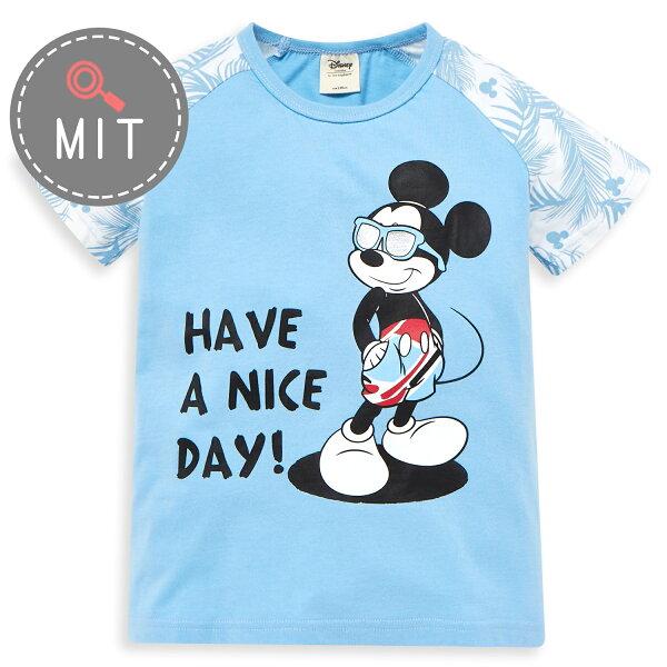 Disney米奇系列歡樂海灘拉克蘭上衣-亮天藍