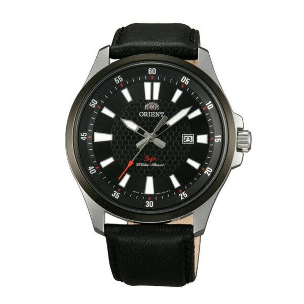 Orient 東方錶(FUNE1002B)運動風石英腕錶/黑面42mm