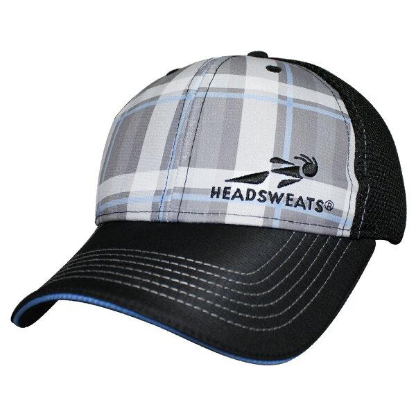 騎跑泳者FINISHER:騎跑泳勇者-HEADSWEATS汗淂卡車司機帽-BluePlaid,網帽,棒球帽,休閒帽.潮帽