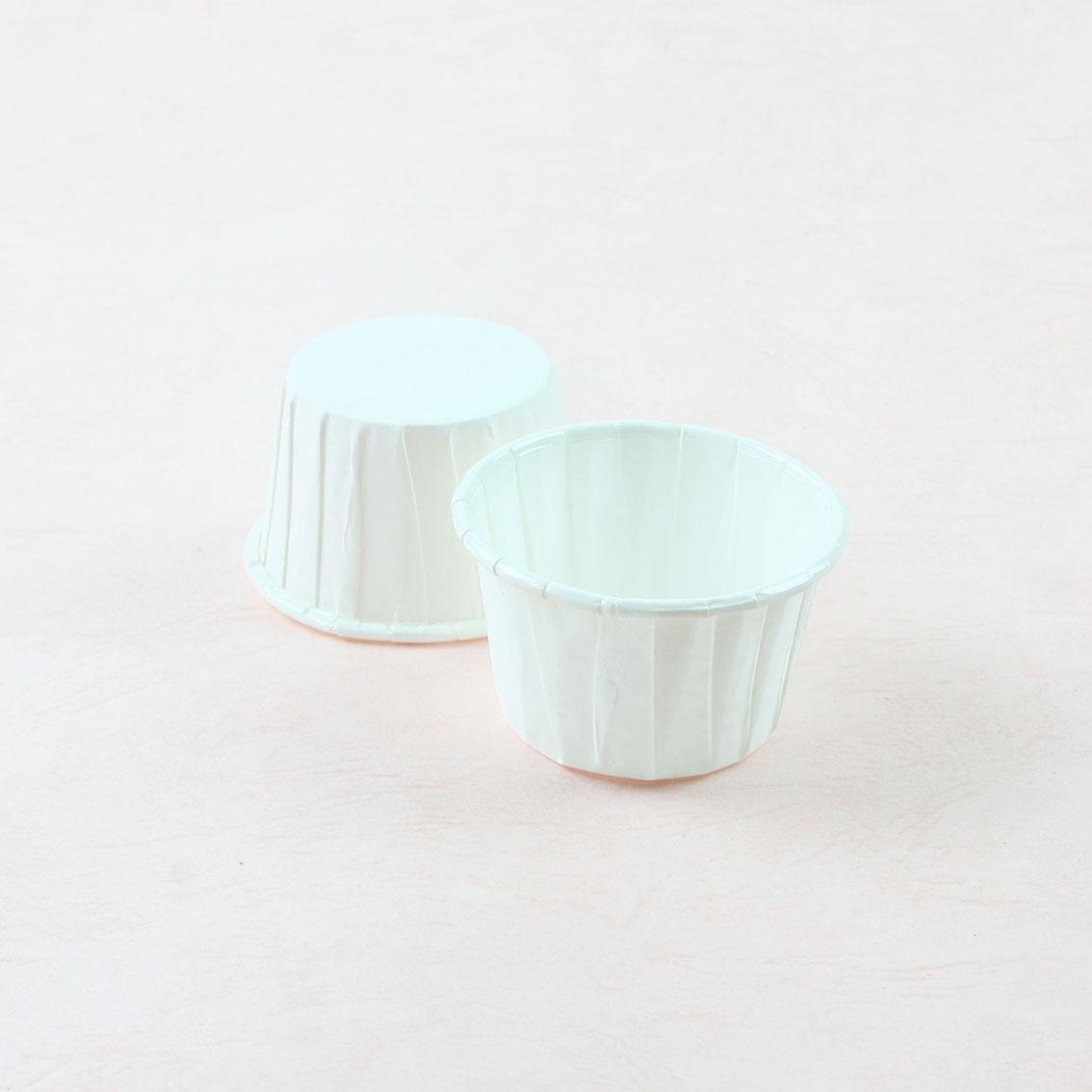 瑪芬杯、杯子蛋糕、捲口杯 PET3830-00 白色(100pcs/包)