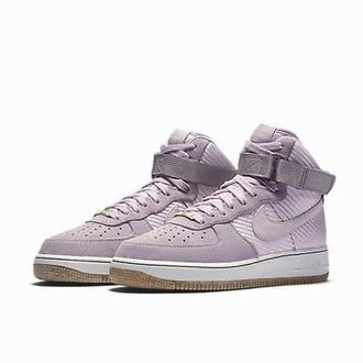 NIKE AIR FORCE 1 HI PRM 粉紫 女鞋 US 9~12 654440-500 D