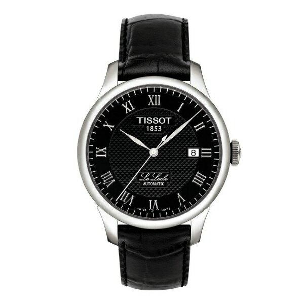 TISSOT天梭T41142353 力洛克經典羅馬機械腕錶/黑面39.3mm