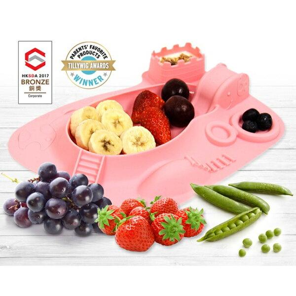 加拿大【MARCUS&MARCUS】動物樂園遊樂造型餐盤-粉紅豬(粉)