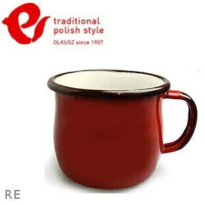 Emalia Olkusz 波蘭百年琺瑯杯/牛奶杯/琺瑯馬克杯250ml TPS 紅色 RE