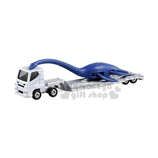 〔小禮堂〕TOMICA小汽車《白.恐龍搬送車.137》經典造型值得收藏