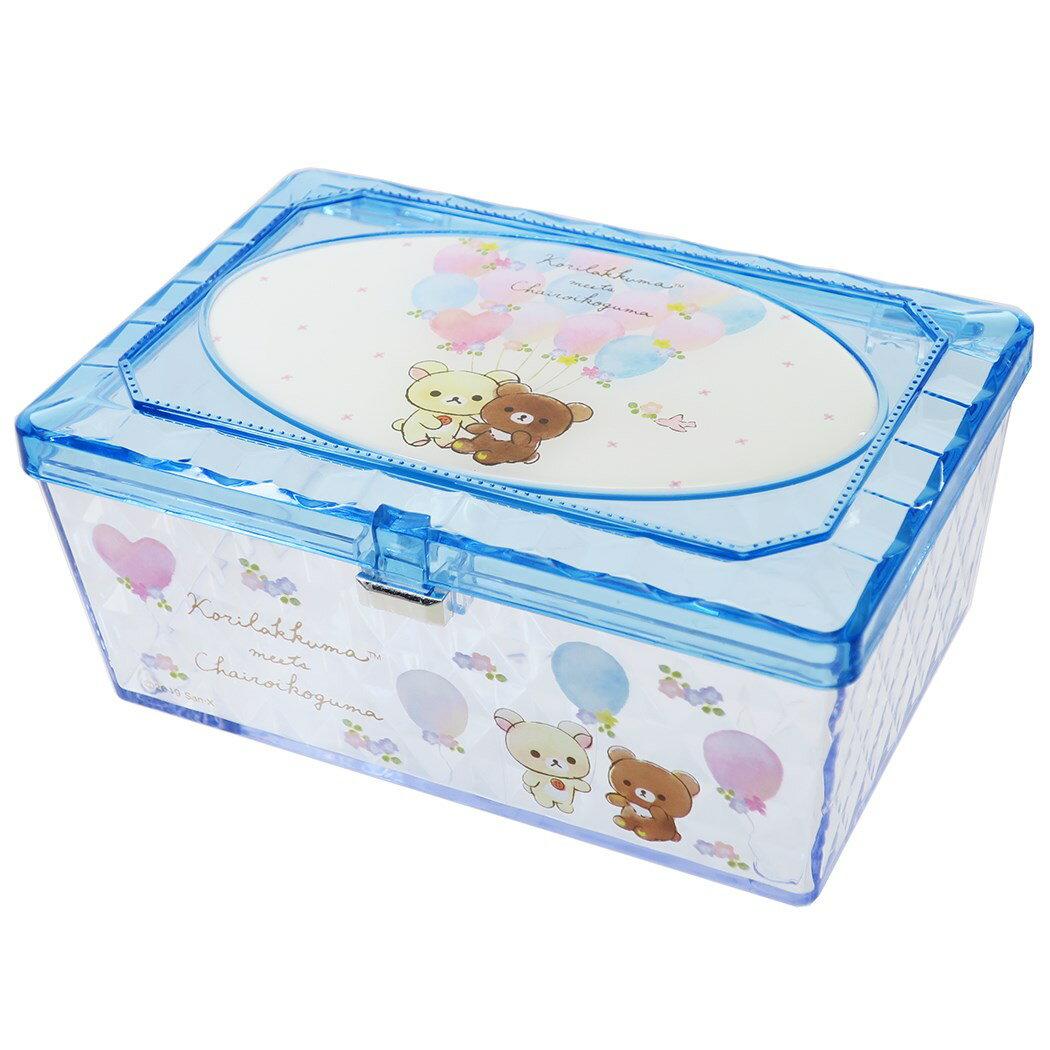 X射線【C481858】懶熊Rilakkuma 透明小物收納盒,置物櫃 收納櫃 收納盒 抽屜收納盒 收納箱 桌上收納盒