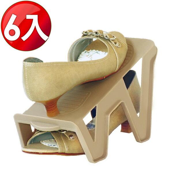 LOG樂格:WallyFun新一代輕鬆抽取收納鞋架(6入組)