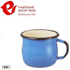 EmaliaOlkusz波蘭百年琺瑯杯牛奶杯琺瑯馬克杯350mlTPS亮藍BB