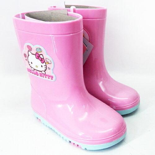 【真愛日本】童雨鞋715941-粉15-21 三麗鷗 Hello Kitty 凱蒂貓 童鞋 雨鞋 正品
