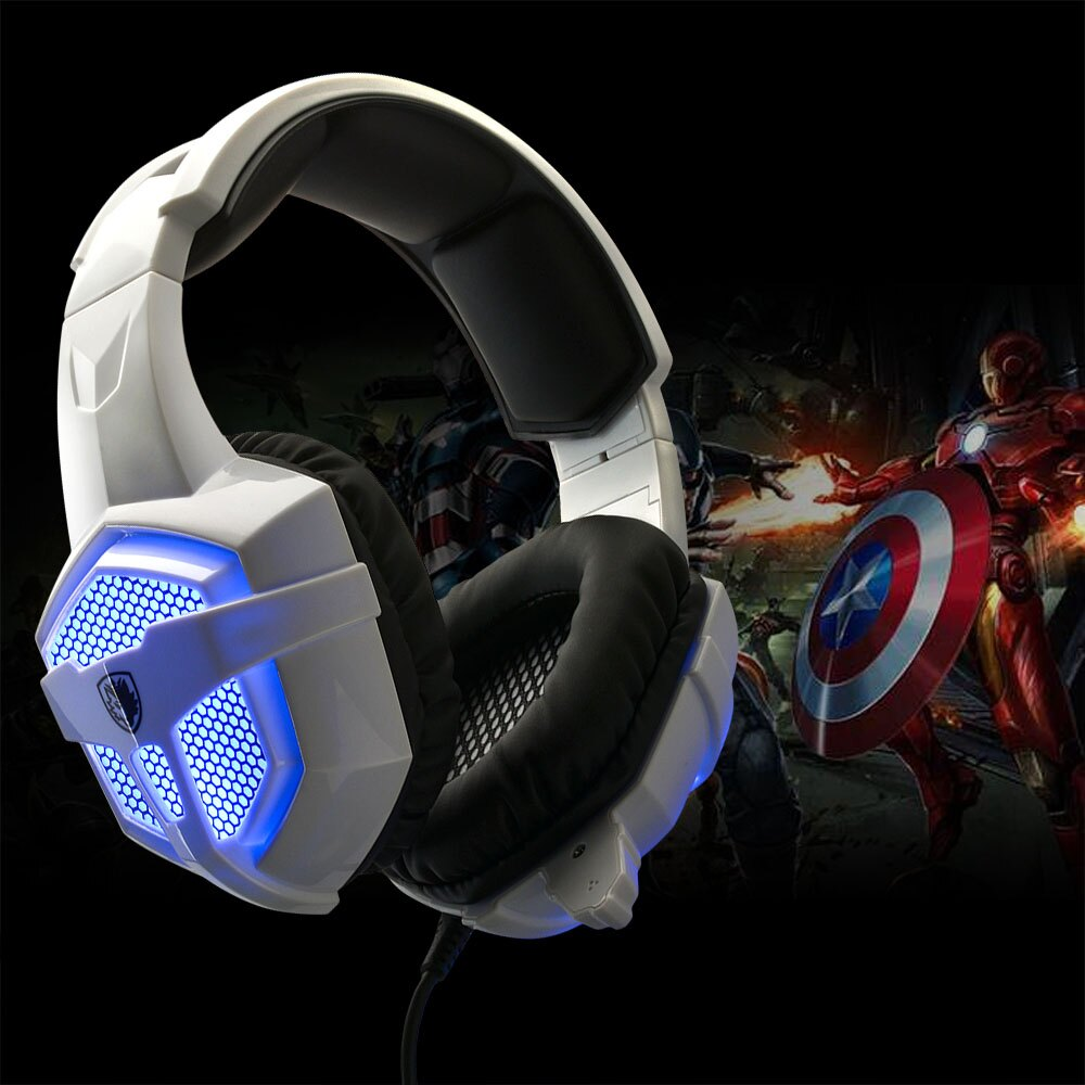 SADES SA-738 Stereo Gaming Headphone Headsets USB 3.5mm LED with Mic for PC 1