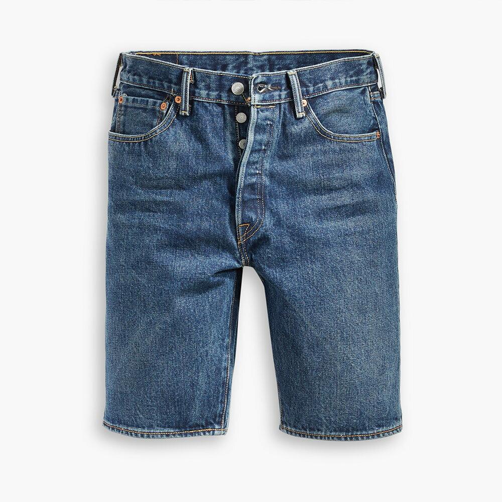 Levis 男款 501經典排釦牛仔短褲 / 輕磅 / 無彈性-CO