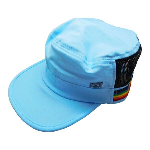 有機樂活購:SUNSOULHOII后益-可愛造型軍帽UPF50+藍光