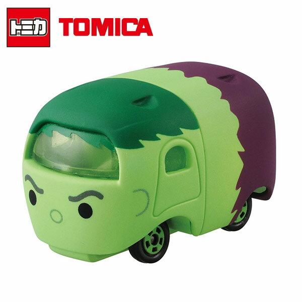 【日本正版】TOMICA 多美小汽車 TSUM TSUM 漫威英雄 綠巨人 浩克 Hulk 玩具車 MARVEL - 877400