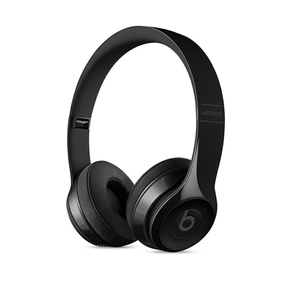 先創公司貨/APPLE公司保固1年『 Beats Solo 3 Wireless 亮黑 』耳罩式無線藍牙耳機/藍芽/另售studio