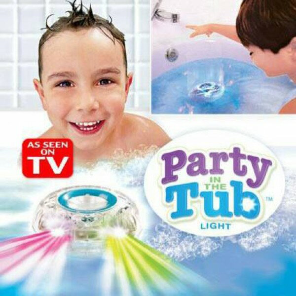 【Party in the Tub 兒童洗澡玩具 LED七彩發光球】
