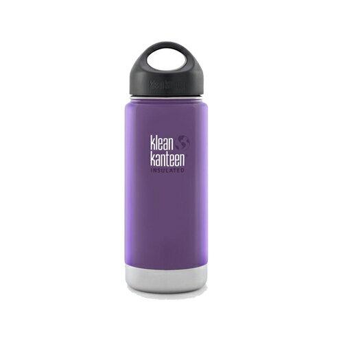 【Klean Kanteen】16oz不鏽鋼寬口環形蓋保溫瓶-紫葡萄