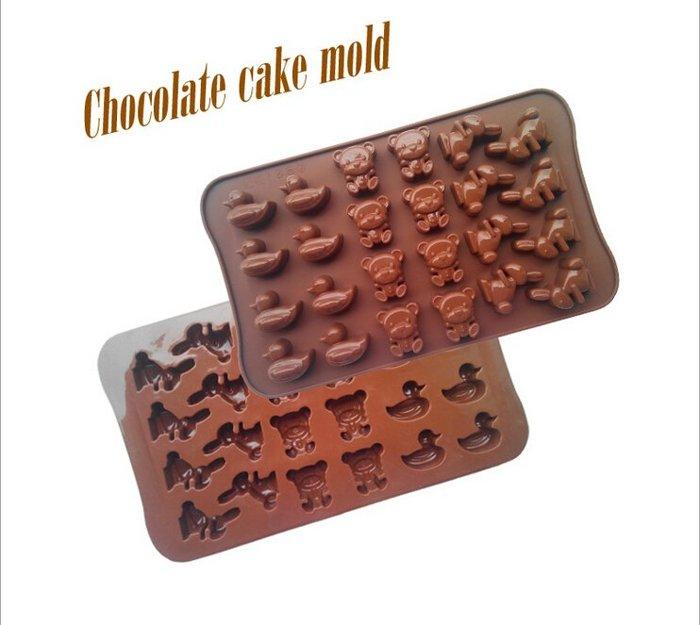 =優生活=迷你卡通小動物小黃鴨熊熊小兔子巧克力模 冰格模具 製冰盒 肥皂模具