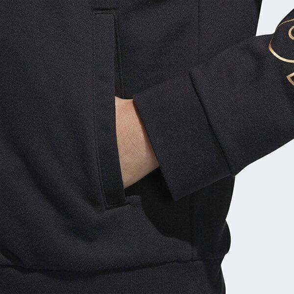 ◆APP領券再九折◆快速出貨【ADIDAS】愛迪達 W E BRAND HD TT 女裝 休閒 連帽 吸濕排汗 金標 黑 外套 -FL0147 4