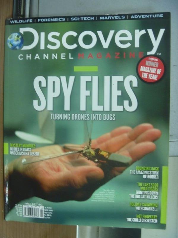 【書寶二手書T1/雜誌期刊_PIQ】Discovery_2010/6-7月號_Spy Flies等
