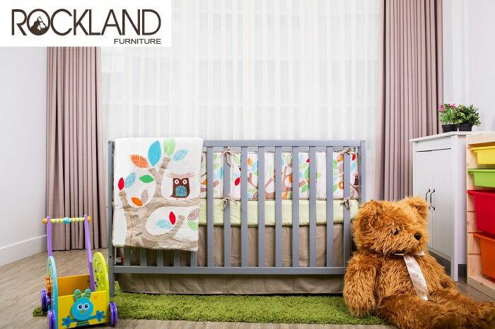 【送床包】【Rockland】喬依思4合1嬰兒床(附贈床墊+床側護欄)-4色 0
