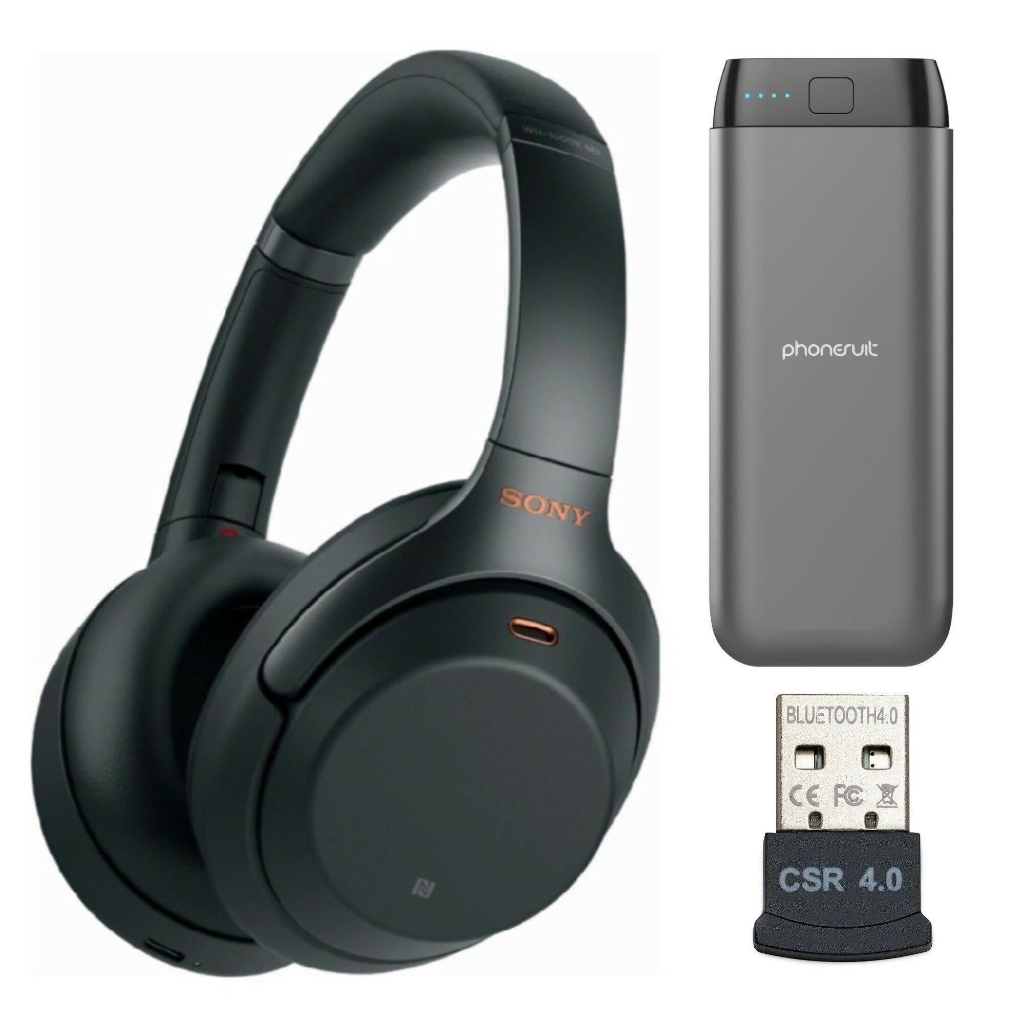 18d3b75d362 Sony WH-1000XM3 Wireless Noise-Canceling Over-Ear Headphones (Black) Bundle